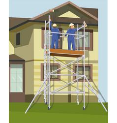 home repair workers vector image
