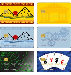 Images for bank cards vector