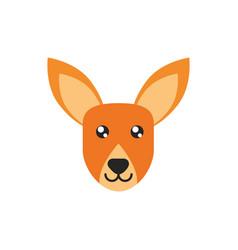 kangaroo head animal wildlife australia icon on vector image