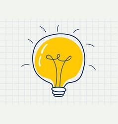 lit painted light bulb vector image