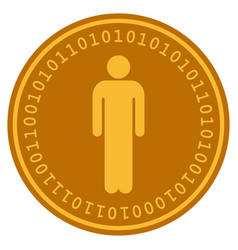 Man digital coin vector