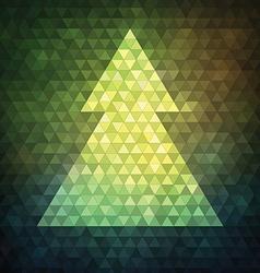 Mosaic Christmas Tree vector image