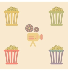 Movie snack Collection in flat vector