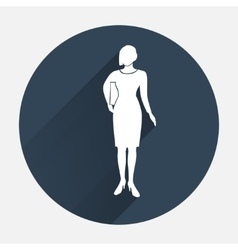 Office worker icon Person symbol Standing vector image