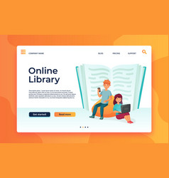online library or web archive digital education vector image