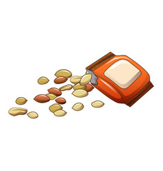 peanut package icon cartoon style vector image