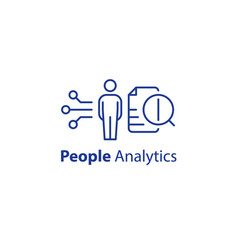 People analytics concept personal data processing vector