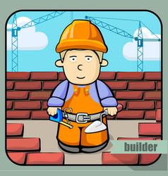 person profession builder vector image