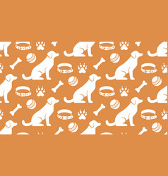 Pet shop seamless pattern with flat icons vector