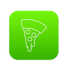 pizza icon green vector image