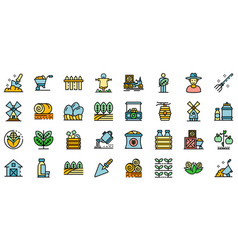 producer icons set flat vector image