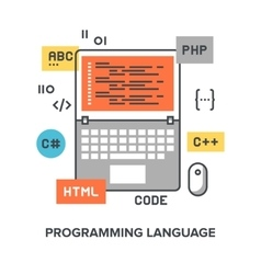 Programming language concept vector