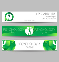 Psychology web banner design background or vector