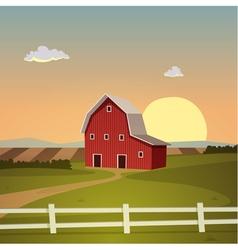Red Farm Barn vector