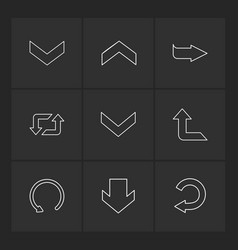 Reset up next arrows directions left right vector