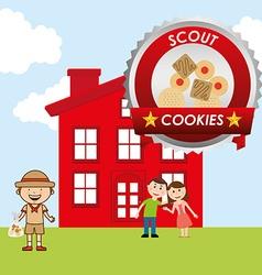 Scout cookies vector