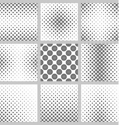 Seamless monochrome circle pattern design set vector image