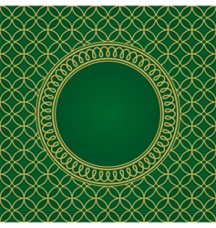 Seamless pattern and round frame vector