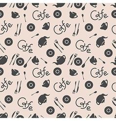 Seamless pattern Cafe stylish vector image