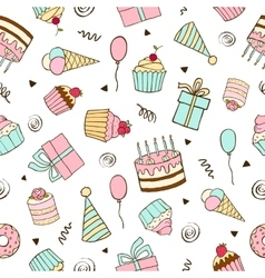 Seamless pattern for birthdays vector image