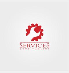 Services logo template gear logo technology vector