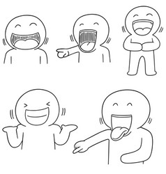 set of man laughing vector image