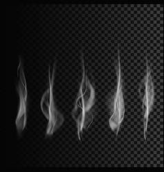 set of smoke transparent smoke shapes smoke vector image