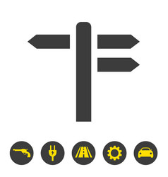 Signpost icon on white background vector