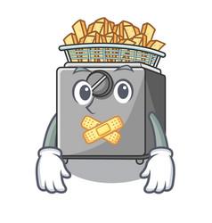 silent deep fryer machine isolated on mascot vector image