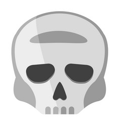 skull cartoon icon on green background vector image