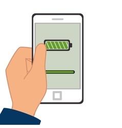 Smartphone battery level icon vector