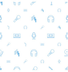 studio icons pattern seamless white background vector image