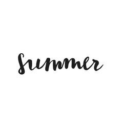 summer quote brush pen handwritten lettering vector image