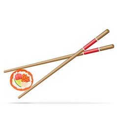 Sushi and chopsticks 01 vector