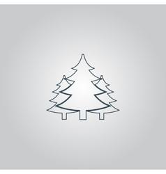 Tree Christmas fir tree vector image