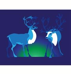 Two deer vector