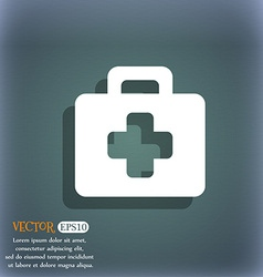 first aid kit icon symbol on the blue-green vector image vector image