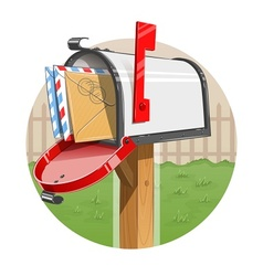 Mail box with letters vector image vector image