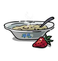 Plate with porridge vector image vector image