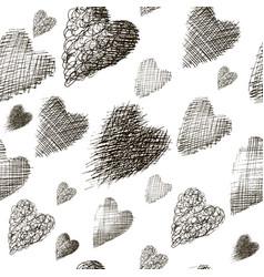 seamless many hearts vector image vector image