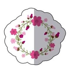 Beautiful flowers ornament vector image