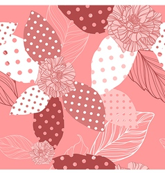 beautiful seamless pink pattern with roses vector image