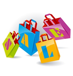 paper bags vector image vector image