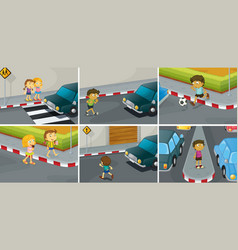 Road rules vector image vector image