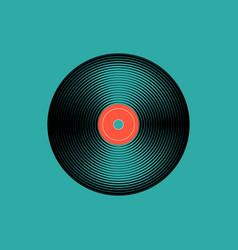 vinyl music record vintage gramophone disc vector image