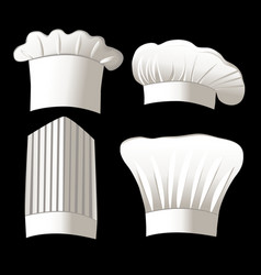 Four chef hats vector image vector image