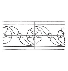 intarsia border rosette band is a design of a vector image vector image