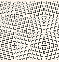 seamless pattern with rounded wavy lines vector image vector image