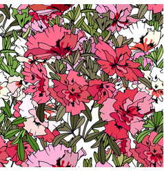 seamless pattern with traditional homeplant azalea vector image