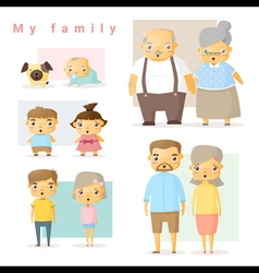 Set of big family vector image vector image